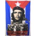Che Guevara (cuba arme) flagga tygaffisch
