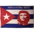 Che Guevara (cuba horizontal) flagga tygaffisch