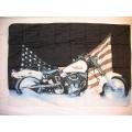 Harley - Hard Division USA. Posterflagga SAMLAROBJEKT