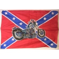 Harley - Sydstatsflagga med Chopper. Posterflagga