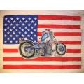 Harley - Usa flag Chopper. posterflagga SAMLAROBJEKT