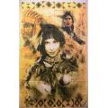 Indian flagga (woman 2men 2wolves)