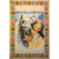 Indian flagga (Woman and Horse)