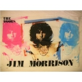 Jim Morrison - The doors (pink natural blue)gammal posterflagga
