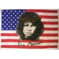 Jim Morrison - The Doors (bigflag)usa flag gammal posterflagga