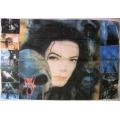 Michael Jackson - Face scull 8pict gammal flagga SAMLAROBJ.