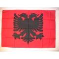 Nationsflagga - Albanien. bigflag Posterflagga