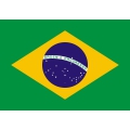 Nationsflagga - Brasilien. bigflag Posterflagga