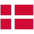 Nationsflagga - Danmark. bigflag Posterflagga