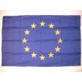 Nationsflagga - EU (Europa). bigflag Posterflagga