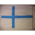 Nationsflagga - Finland Ljusblå färg. Bigflag Posterflagga