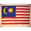 Nationsflagga - Malaysia. Posterflagga