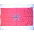 Nationsflagga - Marocko (Marocco). Posterflagga