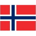 Nationsflagga - Norge. bigflag Posterflagga