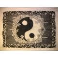 Yin Yang gammal posterflagga tygaffisch