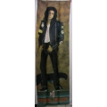 Michael Jackson - Avlång dörrflagga från 80-talet SAMLAROB.