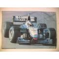 Bil flagga - Formel1 Mercedes posterflagga från 1999