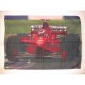 Bil flagga - Formel1 red car posterflagga från 1998