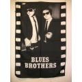 Film flagga Blues Brothers mycket ovanlig gammal posterflag