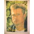 Film flagga Brad Pitt mycket ovanlig posterflagga tygaffisch