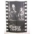 Film flagga Charlie Chaplin mycket ovanlig gammal posterflag