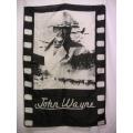 Film flagga John Wayne mycket ovanlig gammal posterflag
