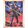Film flagga Manga (toei animation) mycket ovanlig från 1987