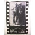 Film flagga Paul Newman Lee mycket ovanlig gammal posterflag