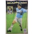 Fotbolls flagga Mancini (tyg-affish)