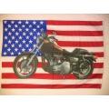 Harley - Usa flag MC. Posterflagga