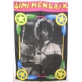 Jimi Hendrix - mycket ovanlig gammal posterflagga