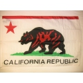 Nationsflagga - California Republic. posterflagga