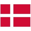 Nationsflagga - Danmark. liten Posterflagga
