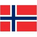 Nationsflagga - Norge. liten Posterflagga