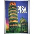 Pisa tornet - Lutande Pisa tornet i Italien. Posterflagga