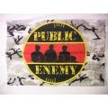 Public Enemy (camouflage) gammal posterflagga