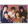 Rollingstones - (group pict) sällsynt gammal posterflagga
