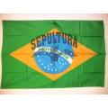 Sepultura Brasil mycket ovanlig gammal posterflagga