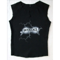 Metallica - Logo with lightning. Tjejtopp Small