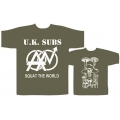 U.K. SUBS - SQUAT THE. Medium Vintage T-shirt