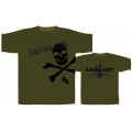 LACUNA COIL - ARMY Skull. Large grön T-shirt