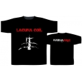 LACUNA COIL - KARMACODE LOGO. T-shirt Large