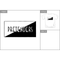 The Pretenders - Classic Logo. T-shirt Small