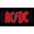 AC/DC - RED LOGO. Tygmärke