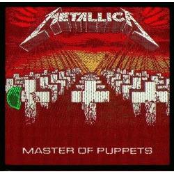 Metallica - Master of Puppets. Tygmärke