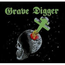 Grave Digger - SKULL. Tygmärke