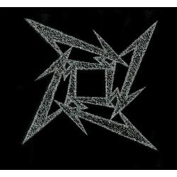 METALLICA - STAR silver. Tygmärke