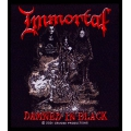 IMMORTAL - DAMNED IN BLACK. Tygmärke