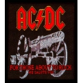 AC/DC - FOR THOSE ABOUT TO ROCK. Tygmärke