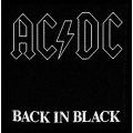 AC/DC - BACK IN BLACK. Tygmärke